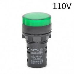 Green-110v 22 mm-es LED-es jelzőfény Pilótafény jelzőlámpa panel Piros zöld Kék Sárga fehér