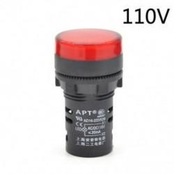 Piros-110v 22 mm-es LED-es jelzőfény Pilótafény jelzőlámpa panel Piros zöld Kék Sárga fehér