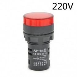 Piros-220v 22 mm-es LED-es jelzőfény Pilótafény jelzőlámpa panel Piros zöld Kék Sárga fehér