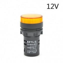 Sárga-12V 22 mm-es LED-es jelzőfény Pilótafény jelzőlámpa panel Piros zöld Kék Sárga fehér