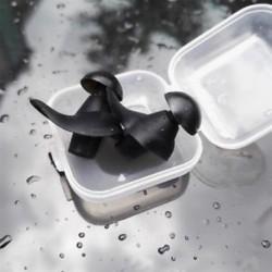 * 1 Fekete Puha szilikon elleni zajhabos fül füldugó az úszás alvó munkapadhoz Újrafelhasználható Comfy