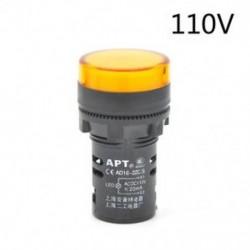 Sárga-110v LED-es jelzőfény-jelzőfény-jelzőfény Vörös zöld Kék Sárga Fehér 22mm