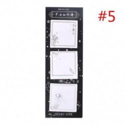 * 5 Memo Pads Sticky Notes Vintage papír Jegyzettömb matricák Irodai iskola Irodaszerek J