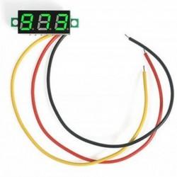 Zöld Mini digitális feszültségmérő DC 0-100V LED panel feszültségmérő 3-digitális 3 vezetékkel