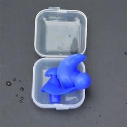 * 1 Kék Puha szilikon újrafelhasználható komfort elleni zajhabos fül füldugó az úszás alvó munkadobozhoz