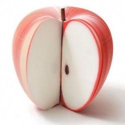 150 oldal 3D Alma gyümölcs formájú jegyzetfüzet írása helyhez kötött párt ajándék 150 oldal 3D Apple gyümölcs