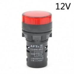Piros-12V LED-es jelzőfény-jelzőfény-jelzőfény Vörös zöld Kék fehér sárga 22mm