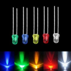 100db sok 3 mm-es zöld fehér piros kék sárga LED-es izzó dióda lámpák 100db sok 3 mm-es zöld fehér piros kék sárga