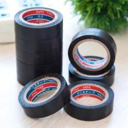 Új PVC elektromos huzal szigetelő szalag tekercs fekete 6M hosszú él 16mm széles 1 tekercs Új PVC elektromos huzal