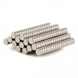 50 db Super erős, kerek lemez 4 x 2 mm-es mágnesek Ritkaföldfém neodímium mágnes N35 50 db Super erős, kerek lemez 4 x 2