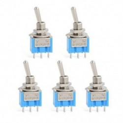 5db AC 250V / 3A 125V / 6A ON-OFF SPDT 2 pozíció reteszelő kapcsoló 5db AC 250V / 3A 125V / 6A ON-OFF SPDT 2 pozíció