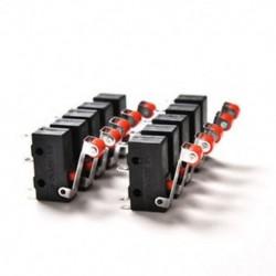Tételek 10db KW12-3 PCB mikrokapcsoló Micro görgős kar kar Nyissa ki a határérték kapcsolót Tételek 10db KW12-3 PCB