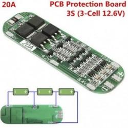 3S 20A 12,6V Li-ion lítium akkumulátor 18650 Töltő PCB BMS védelmi tábla cellája 3S 20A 12,6V Li-ion lítium