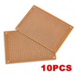 10PCS DIY prototípus papír PCB univerzális kísérlet Matrix áramköri kártya 5x7cm 10PCS DIY prototípus papír PCB