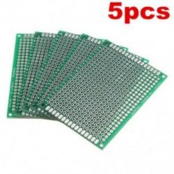 Sok 5db dupla oldalú 5x7 cm-es nyomtatott áramkör PCB Vero prototípus nyomtatás Sok 5db dupla oldalú 5x7 cm-es nyomtatott