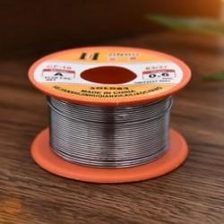 Finom forrasztóhuzal 0.6mm 60/40 2% Fluxus tekercscső Ónvezető Rosin Core Forrasztás 10m Finom forrasztóhuzal 0.6mm 60/40