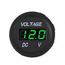 Zöld 12V 24V autós tengeri motorkerékpár LED digitális feszültség feszültségmérő akkumulátor mérőműszer