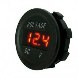narancs 12V 24V autós tengeri motorkerékpár LED digitális feszültség feszültségmérő akkumulátor mérőműszer