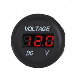 Piros Vízálló 24V autó motorkerékpár LED digitális feszültségmérő feszültségmérő