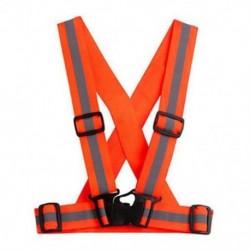 narancs Multi High állítható biztonsági biztonsági láthatóság Fényvisszaverő mellény fogaskerék