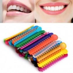 1 Csomag 1040Pcs ködös ortodontikus ligatúra nyakkendők többszínű elasztikus szalagok Új 1 Pack 1040Pcs fogászati