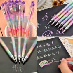 6 színben 1 toll gél toll diákok irodaszerek Office Ink Pen kréta toll ajándék 1db
