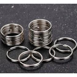 10db kerek lapos kulcstartó gyűrűk fém osztott gyűrű otthoni autós kulcsok számára