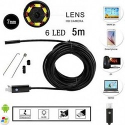 5M 10M Android PC HD endoszkóp vízálló kígyó Borescope USB ellenőrző kamera 7MM