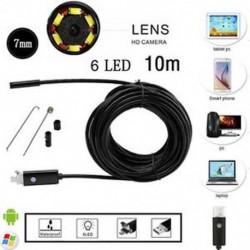 10M 10M Android PC HD endoszkóp vízálló kígyó Borescope USB ellenőrző kamera 7MM