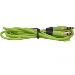 Zöld 1PC 3,5 mm-es férfi-férfi audio sztereó Aux-hosszabbító kábel kábel iPhone iPod JP-hez