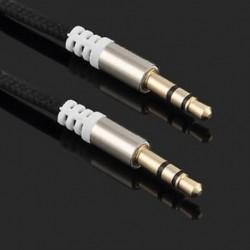 Fekete Arany 3,5 mm-es férfi és férfi autós Aux kiegészítő kábel sztereó audiokábel telefon iPodhoz