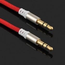 Piros Arany 3,5 mm-es férfi és férfi autós Aux kiegészítő kábel sztereó audiokábel telefon iPodhoz
