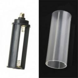 E-1PCS 18650 akkumulátorcső DIY hordozható műanyag akkumulátor burkolat tartó tároló doboz akkumulátorokhoz