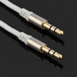 fehér 3,5 mm-es férfi és férfi autós Aux kiegészítő kábel sztereó audiokábel telefon iPod MP3-hoz