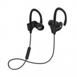Fekete Univerzális vezeték nélküli Bluetooth fülhallgató Sport sztereó fülhallgató fejhallgató Kézzel szabad JP