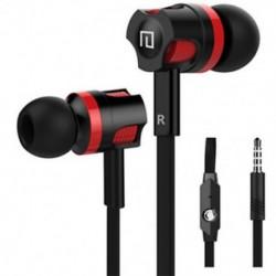 * 1 Fekete 3,5 mm-es fülhallgató mikrofon basszus sztereó fejhallgató fülhallgatóval