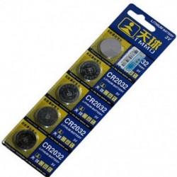Rengeteg 5PCS CR2032 DL2032 LM2032 3V gombelem érme akkumulátor távvezérléshez