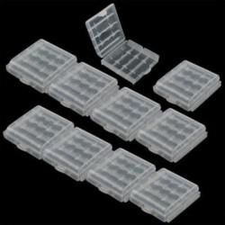 C-4 rácsok (10db / készlet) Akkumulátorok hordozható műanyag elemtartó fedél tartó tároló doboz DIY