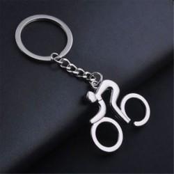 Fém ezüst kerékpár kerékpár kerékpározás kulcstartó kulcstartó kulcstartó kulcstartó gyűrű
