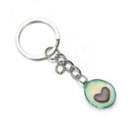 * 1 Avokádó szív alakú kulcstartók A legjobb barátok kulcstartói BFF kulcstartó élelmiszer ékszerek