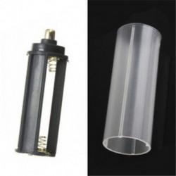 1PC 18650 akkumulátorcső   1PCS AAA elemtartó fekete vaku zseblámpa lámpához
