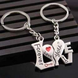 2PCS I LOVE YOU szívbillentyűkulcs pár kulcstartó gyűrű kulcstartó kulcstartó szerető ajándék