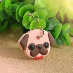4 * Kutya Szilikon kulcstartó kupak fejborító kulcstartó tok Shell szép állatok alakja új
