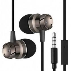 Fekete 3,5 mm-es fülbe sztereó fejhallgató fülhallgató Super Bass Music Earbuds fülhallgató mikrofonnal