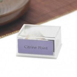 Citrine Point 1 doboz Mini természetes durva kövek nyers rózsa kvarc kristály ásványi sziklák gyűjteménye