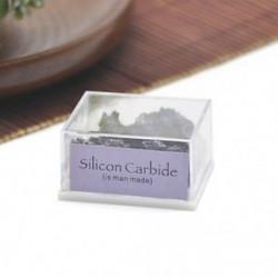 Szilícium-karbid 1 doboz természetes durva kövek nyers rózsa kvarc kristály ásványi sziklák gyűjtemény ajándék