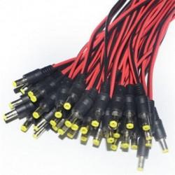 10db 5.5x2.1mm férfi   női egyenáramú dugaszolóaljzat csatlakozó kábel 12V