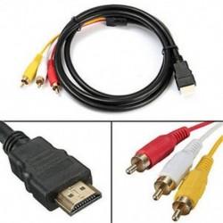 HDMI-3-RCA 1.5M 5Ft videó audio AV komponens átalakító adapter kábel HDTV-hez
