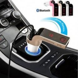 Bluetooth G7 autós készlet Kihangosító FM adó Rádió MP3 lejátszó és USB autós töltő