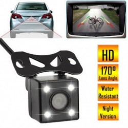 170 ° -os autó hátsó nézet biztonsági mentésű fényképezőgép vízálló parkolás CMOS visszafordított